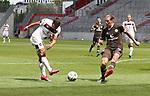nph0001:  17.05.2020 --- Fussball --- Saison 2019 2020 --- 2. Fussball - Bundesliga --- 26. Spieltag: FC Sankt Pauli - 1. FC Nürnberg ---   DFL regulations prohibit any use of photographs as image sequences and/or quasi-video - Only for editorial use ! --- <br /> <br /> Nikola Dovedan (8, 1. FC Nürnberg ) Daniel Buballa (15, FC St. Pauli ) <br /> <br /> Foto: Daniel Marr/Zink/Pool//via Kokenge/nordphoto