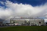 Nederland, Den Haag, 31 augustus 2012.Eredivisie .Seizoen 2012-2013.ADO Den Haag-FC Groningen.Regenboog boven het Kyocera Stadion