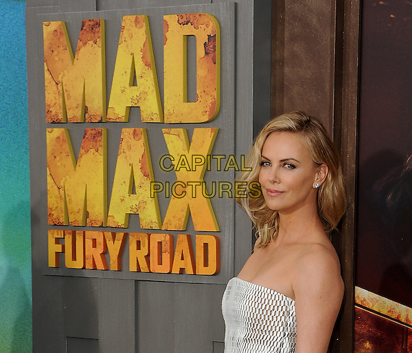 HOLLYWOOD, CA - MAY 7:  Charlize Theron at the Los Angeles premiere of &quot;Mad Max: Fury Road&quot; at the TCL Chinese Theatre on May 7, 2015 in Hollywood, California. <br /> CAP/MPI/PGSK<br /> &copy;PGSK/MediaPunch/Capital Pictures