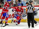 6 February 2010: Montreal Canadiens' defenseman Andrei Markov (79) gets up slowly after being checked to the ice during a game against the Pittsburgh Penguins at the Bell Centre in Montreal, Quebec, Canada. The Canadiens defeated the Penguins 5-3. Mandatory Credit: Ed Wolfstein Photo