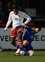 Chuks Aneke of Stevenage (on loan from Arsenal) battles with Matthew Spring of Leyton Orient.- Stevenage v Leyton Orient- npower League 1 - Lamex Stadium, Stevenage - 2nd January 2012  .© Kevin Coleman 2012