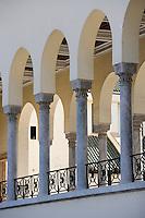 Afrique/Afrique du Nord/Maroc /Casablanca: détail galerie Art-Déco du Tribunal Place Mohammed V ou place eds Nations Unies