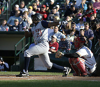 May 30, 2004:  Marcus Thames of the Toledo Mudhens during a game at Frontier Field in Rochester, NY.  The Mudhens are the Triple-A International League affiliate of the Detroit Tigers.  Photo By Mike Janes/Four Seam Images