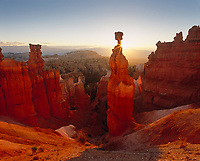 Thors Hammer at Sunrise, Bryce Canyon National Park, Utah, USA.