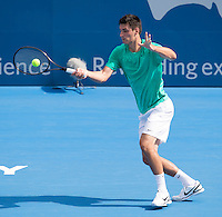 BERNARD TOMIC..Tennis - Apia Sydney International -  Sydney 2013 -  Olympic Park - Sydney - NSW - Australia.Wednesday 9th January  2013. .© AMN Images, 30, Cleveland Street, London, W1T 4JD.Tel - +44 20 7907 6387.mfrey@advantagemedianet.com.www.amnimages.photoshelter.com.www.advantagemedianet.com.www.tennishead.net