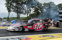 Jun. 1, 2012; Englishtown, NJ, USA: NHRA funny car driver Tony Pedregon during qualifying for the Supernationals at Raceway Park. Mandatory Credit: Mark J. Rebilas-