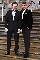 "Brooklyn and David Beckham<br /> arriving for the world premiere of ""Our Planet"" at the Natural History Museum, London<br /> <br /> ©Ash Knotek  D3491  04/04/2019"