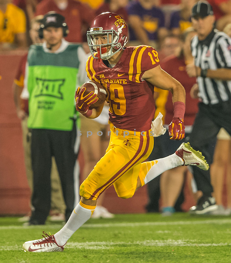 Iowa State Cyclones Trever Ryen (19) during a game against the Northern Iowa Panthers on September 5, 2015 at Jack Trice Stadium in Ames, Iowa. Iowa State beat Northern Iowa 31-7.