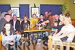Pictured here in the Lobster Bar Waterville on Saturday enjoying the sessions at the Fe?ile were l-r; Jessica Galvin, Patrick Mulcahy, Dennis Bennett, Michael O'Sullivan, Eilis Murphy, Padraig Creedon, Cathal Flood, Vincent O'Sullivan, Bob Priestly, Pat O'Neill, Ben Galvin, Avril Burns & Sheila O'Carroll.