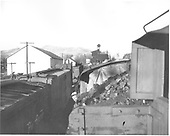 Eastbound D&amp;RGW train entering Chama yard.  Photo made from &quot;Doghouse&quot; or tender.<br /> D&amp;RGW  Chama, NM  ca. 1950-1959