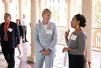 Shanda Ness and Robin Hamilton '08<br /> Occidental College launched the public phase of the Oxy Campaign For Good, a comprehensive effort to raise $225 million to strengthen its financial aid endowment and academic and co-curricular programs, at a May 18, 2019 Campaign Leadership Summit on the Occidental campus. More than 100 Oxy community members participated, getting a first-hand look at current programs and celebrated what the Campaign means for the future of Oxy.<br /> (Photo by Marc Campos, Occidental College Photographer)