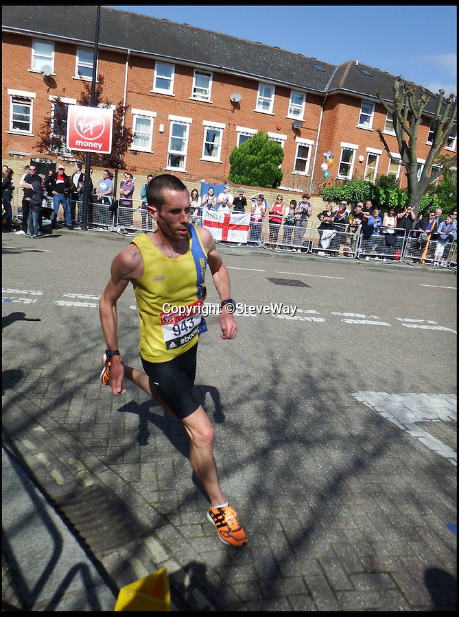 BNPS.co.uk (01202 558833)<br /> Pic: RachelAdams/BNPS<br /> <br /> Steve at the London Marathon 2014 (13th April)<br /> <br /> Steve breaking the British all time 100km road record in an official time of 6hrs 19min 20sec<br /> <br /> An office worker who once weighed 16 stone and smoked 20 cigarettes a day has been picked to represent England in the marathon at the Commonwealth Games.<br /> <br /> Steve Way, from Sturminster Marhsall near Poole, Dorset, has transformed himself from an unfit and unhealthy couch potato into an elite long distance runner capable of taking on the world's best.<br /> <br /> And now just six years after embarking on his remarkable running career his wildest dream has come true after he was named in the Team England squad for Glasgow 2014.<br /> <br /> Incredibly, Steve, who turns 40 just three weeks before the start of the Games, only took up running aged 33 in 2006 as a way of snapping out of his unhealthy lifestyle.