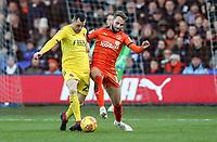 Fleetwood Town's Dean Marney competing with Luton Town's Andrew&nbsp;Shinnie<br /> <br /> Photographer Andrew Kearns/CameraSport<br /> <br /> The EFL Sky Bet League One - Luton Town v Fleetwood Town - Saturday 8th December 2018 - Kenilworth Road - Luton<br /> <br /> World Copyright &copy; 2018 CameraSport. All rights reserved. 43 Linden Ave. Countesthorpe. Leicester. England. LE8 5PG - Tel: +44 (0) 116 277 4147 - admin@camerasport.com - www.camerasport.com