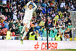 Real Madrid's player Cristiano Ronaldo celebrating a goal during match of La Liga between Real Madrid and Sporting de Gijon at Santiago Bernabeu Stadium in Madrid, Spain. November 26, 2016. (ALTERPHOTOS/BorjaB.Hojas)