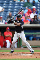 New York Yankees outfielder Chris Young (24) during a Spring Training game against the Philadelphia Phillies on March 27, 2015 at Bright House Field in Clearwater, Florida.  New York defeated Philadelphia 10-0.  (Mike Janes/Four Seam Images)