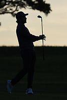 Abraham Ancer (MEX) is silhouetted against the early Friday morning sunrise as he watches his approach shot on 10 during day 2 of the Valero Texas Open, at the TPC San Antonio Oaks Course, San Antonio, Texas, USA. 4/5/2019.<br /> Picture: Golffile | Ken Murray<br /> <br /> <br /> All photo usage must carry mandatory copyright credit (© Golffile | Ken Murray)