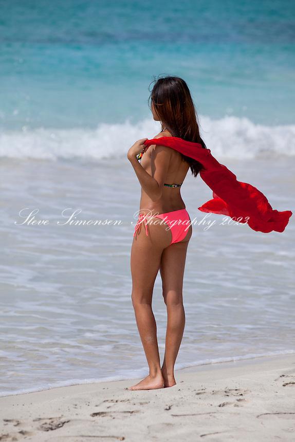 Quiria Rodriguez puerto rican native<br /> Caracas Beach<br /> Vieques, Puerto Rico