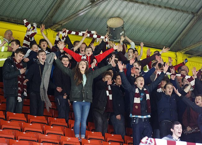 Hearts fans defiant at the end as their team is relegated