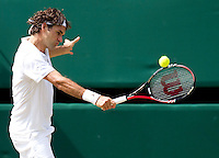 Roger Federer (SUI) (1) aganst Tomas Berdych (CZE) (12) in the quarter-finals of the men's singles. Tomas Berdych beat Roger Federer 6-4 3-6 6-1 6-4..Tennis - Wimbledon Lawn Tennis Championships - Day 9 Wed 30 Jun 2010 -  All England Lawn Tennis and Croquet Club - Wimbledon - London - England..© FREY - AMN IMAGES  Level 1, Barry House, 20-22 Worple Road, London, SW19 4DH.TEL - +44 (0) 20 8947 0100.Email - mfrey@advantagemedianet.com.www.advantagemedianet.com