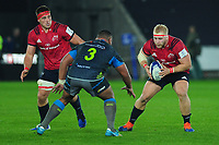 James Cronin of Munster in action during the Heineken Champions Cup Round 1 match between the Ospreys and Munster at the Liberty Stadium in Swansea, Wales, UK. Saturday 16th November 2019
