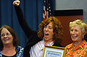 Olympic gold medalist Shaun White adds some pizazz to a Carlsbad city ceremony where he was presented a city proclamation in 2006.  photo for the North County Times
