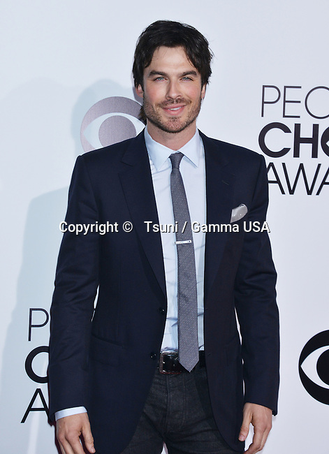 Ian Somerhalder 244 People Choice Awards 2014 at the Nokia Theatre in Los Angeles.