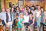Staff from Tralee credit union celebrating in Stoker's Lodge, Tralee last Saturday for a pre wedding celebration for Marcella Herlihy, Camp and the 30th birthdays of both Steven Connor, Racecourse Rd, Tralee and Katie O'Donoghue, Manor, Tralee.