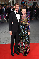 Andrew Garfield and Claire Foy at the premiere for &quot;Breathe&quot;, part of the BFI London Film Festival, at the Odeon Leicester Square, London, UK. <br /> 04 October  2017<br /> Picture: Steve Vas/Featureflash/SilverHub 0208 004 5359 sales@silverhubmedia.com
