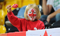 A young fan of team Canada during the FIFA Women's World Cup at the FIFA Stadium in Dresden, Germany on July 5th, 2011.