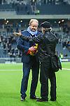 Stockholm 2013-10-27 Fotboll Allsvenskan Djurg&aring;rdens IF - Gefle IF :  <br /> Djurg&aring;rden huvudtr&auml;nare tr&auml;nare Per-Mathias H&ouml;gmo under en intervju med Sveriges Radio i samband med att han blir avtackad och hyllad efter sista matchen som tr&auml;nare f&ouml;r Djurg&aring;rdens IF i Tele2 Arena<br /> (Foto: Kenta J&ouml;nsson) Nyckelord:  tr&auml;nare manager coach