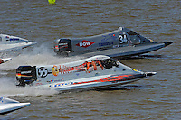 Final restart: Jeff Reno, #34 and Jim McGrath, (#55) beat the others off the dock.  (SST-120 class)