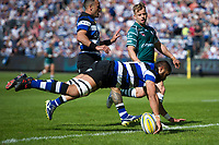 Taulupe Faletau of Bath Rugby scores a try in the first half. Aviva Premiership match, between Bath Rugby and London Irish on May 5, 2018 at the Recreation Ground in Bath, England. Photo by: Patrick Khachfe / Onside Images