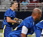 Kurt Warner calls a play in the second quarter.