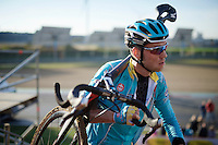 Lars Boom (NLD/Astana) at recon<br /> <br /> UCI Cyclocross World Cup Heusden-Zolder 2015