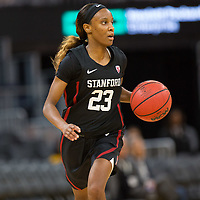 SAN FRANCISCO, CA - NOVEMBER 09: San Francisco, CA - November 9, 2019: Kiana Williams at the Chase Center. The Stanford Cardinal defeated the USF Dons 97-71. during a game between University of San Francisco and Stanford Basketball W at Chase Center on November 09, 2019 in San Francisco, California.