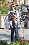 .6-2-09. Exclusive..Santa Monica California Natasha Mcelhone shopping drinking coffee walking with her new baby Rex who was born just months after her husband was found dead. ..AbilityFilms@yahoo.com.805-427-3519.www.AbilityFilms.com.