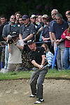 Miguel Angel Jimenez chips out of the bunker at the 14th hole during the final round of the 2008 BMW PGA Championship at Wentworth Club, Surrey, England 25th May 2008 (Photo by Eoin Clarke/GOLFFILE)