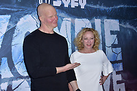 Derek Mears und Virginia Madsen at the premiere of SyFy TV-Film Zombie Tidal Wave at the Garland Hotel in Los Angeles, California August 12, 2019. Credit: Action Press/MediaPunch ***FOR USA ONLY***