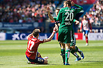 Atletico de Madrid's Saul Niguez and Real Betis's Pezzella during BBVA La Liga match. April 02,2016. (ALTERPHOTOS/Borja B.Hojas)