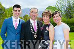 Killarney mayor John Joe Culloty with his wife Mary and children Aine at the Killarney Mayor ball in aid of the Irish cancer society at the Malton Hotel on Sunday night