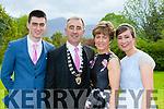 Killarney mayor John Joe Culloty with his wife Mary and children Aine at the Killarney Mayor ball in aid of the Irish cancer society at the Malton Hotel on Sunday night