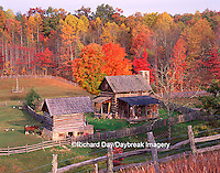 67395-01611 Pioneer farm in fall  Twin Falls SP   WV