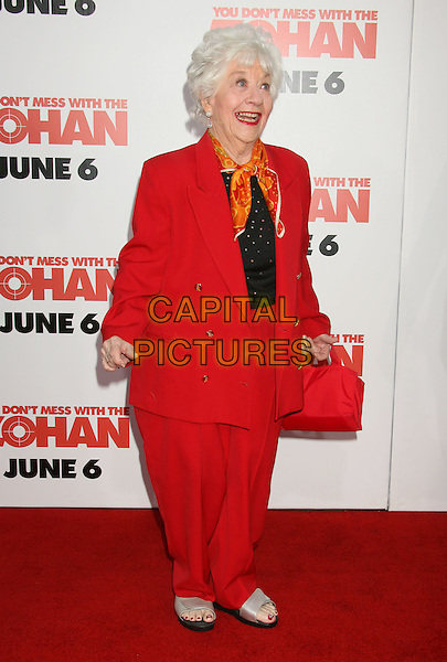 "CHARLOTTE RAYE.""You Don't Mess With The Zohan"" LA Premiere at Grauman's Chinese Theatre, Hollywood, California, USA,.28 May 2008..full length red suit trousers jacket .CAP/ADM/MJ.©Michael Jade/Admedia/Capital Pictures"