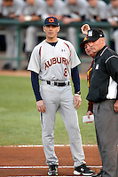 John Pawlowski, head coach - Auburn Tigers in a series at Arizona State University, 3/12 - 3/14/2010 .Photo by:  Bill Mitchell/Four Seam Images.