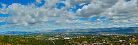 San Fernando Valley CA Panorama, Digital oil painted texture,  Beautiful, Unique