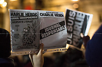 "07.01.2015 - ""Je Suis Charlie"" London's Vigil for the Victims of the Attack at Charlie Hebdo"