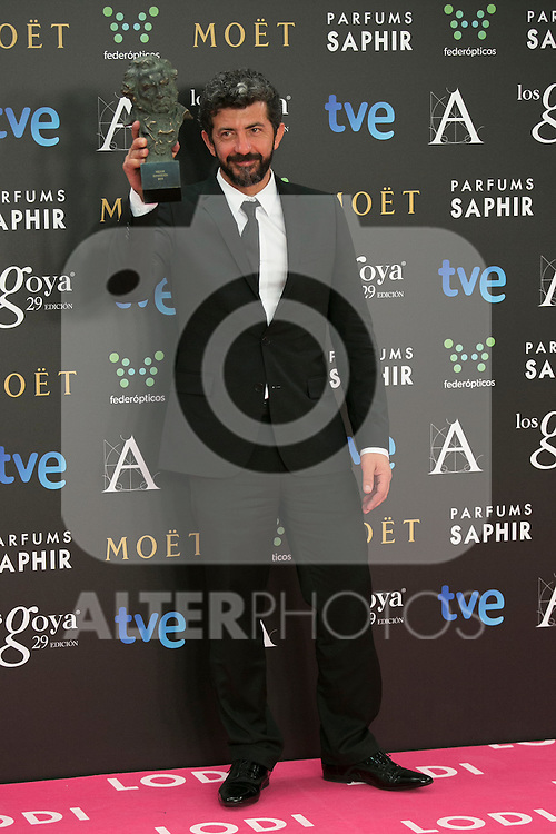 Alberto Rodriguez attend the 2015 Goya Award Winners Photocall at Auditorium Hotel, Madrid,  Spain. February 08, 2015.(ALTERPHOTOS/)Carlos Dafonte)