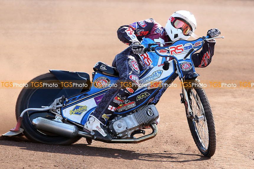 Stuart Robson of Lakeside Hammers - Lakeside Hammers Press & Practice Day at the Arena Essex Raceway, Pufleet - 20/03/12 - MANDATORY CREDIT: Rob Newell/TGSPHOTO - Self billing applies where appropriate - 0845 094 6026 - contact@tgsphoto.co.uk - NO UNPAID USE..