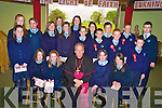 Katelyn Falvey, Amy Murphy, Kerry McMurray, Mollie O'Sullivan, Shauna Murphy, Catherine Coffey, Sinead O'Reilly, Zoe O'Reilly, sarah Canavan, Wayne O'Donoghue, Jonathan Coffey, Conor Courtney, Erin Mannix, Sinead Lucey, Erin Crowley, Maurice Prenderville, Conor Kissane and Liam Coffey, Two Mile School, Killarney, pictured with Bishop Bill Murphy after their confirmations in the Prince of Peace church, Fossa on Tuesday.......