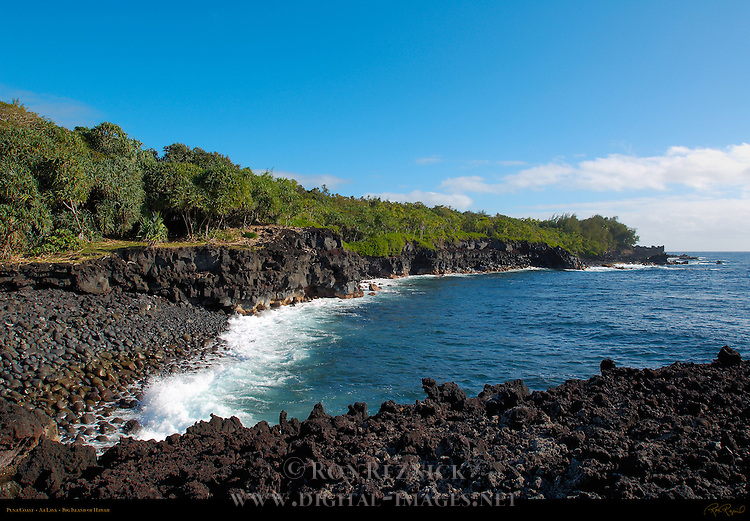 Puna Coast, Aa Lava, Big Island of Hawaii